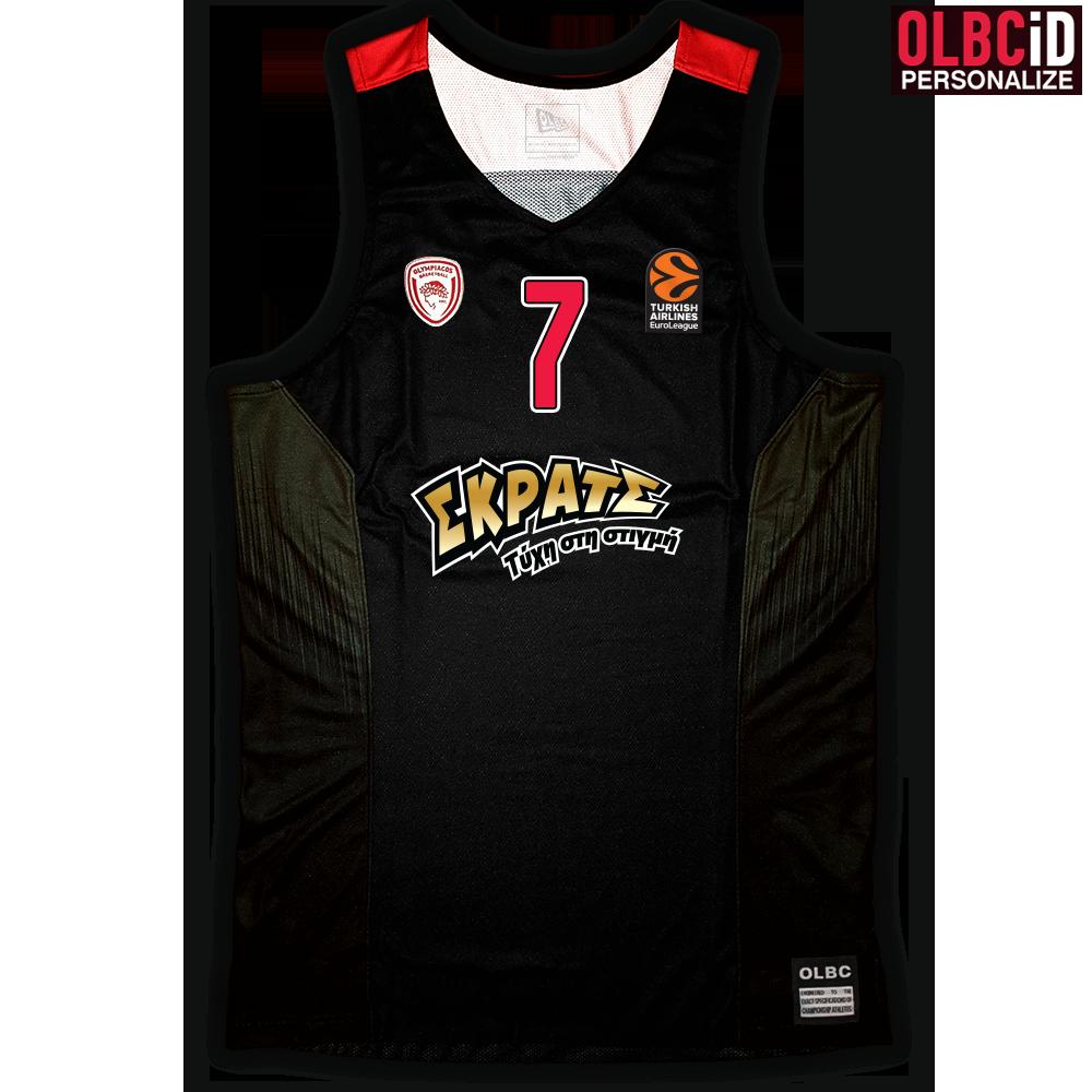 Φανέλα Ανδρική Olympiacos BC 2016-2017 Away Black - Replica Edition 0c47b1093e9